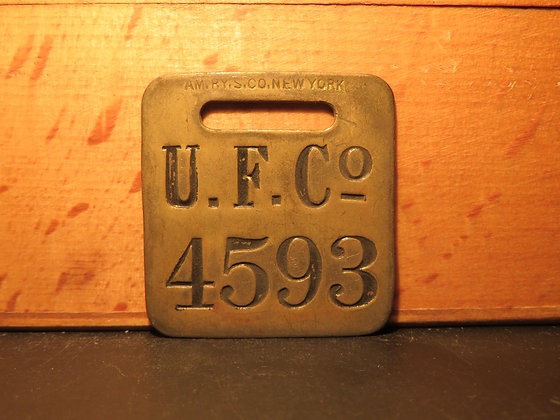 UFCO Brass Luggage Tag 4593