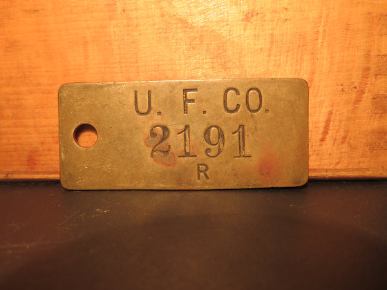 UFCO Brass Inventory Tag 2191