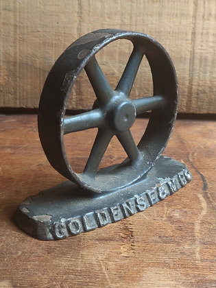 Goldens Foundry and Machine Company Promotional Pulley Paper Weight