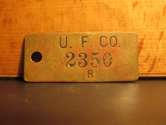 UFCO Brass Inventory Tag E2350