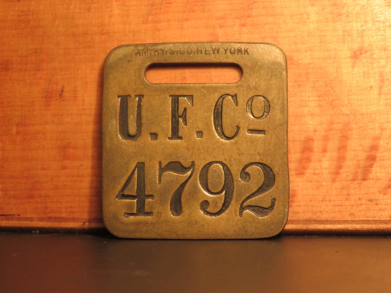 UFCO Brass Luggage Tag 4792