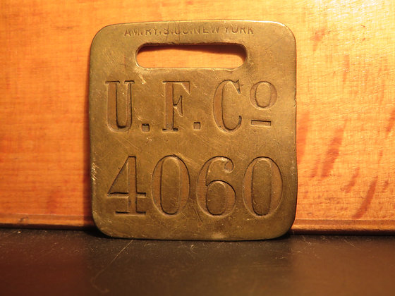 UFCO Brass Luggage Tag 4060