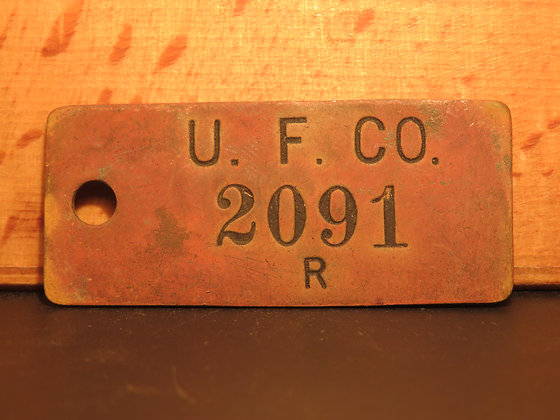 UFCO Brass Inventory Tag  2091
