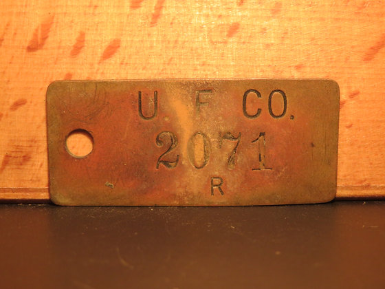UFCO Brass Inventory Tag  2071