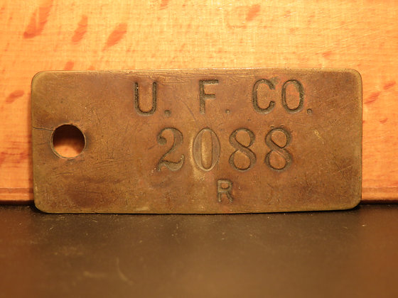UFCO Brass Inventory Tag  2088