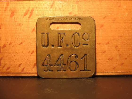 UFCO Brass Luggage Tag 4461
