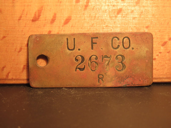 UFCO Brass Inventory Tag 2673