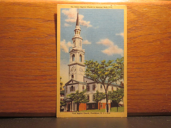 The Oldest First Baptist Church in America, Providence, Rhode Island