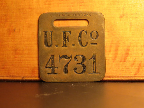 UFCO Brass Luggage Tag 4731