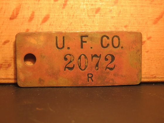 UFCO Brass Inventory Tag  2072