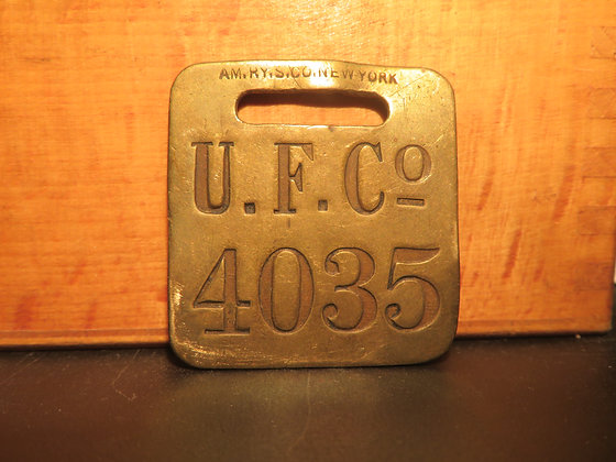 UFCO Brass Luggage Tag 4035