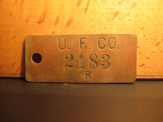 UFCO Brass Inventory Tag 2183