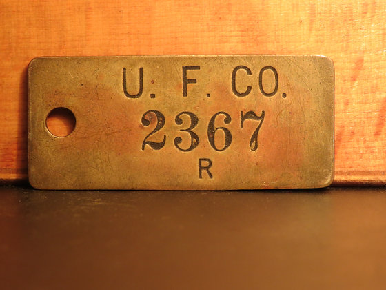 UFCO Brass Inventory Tag 2367