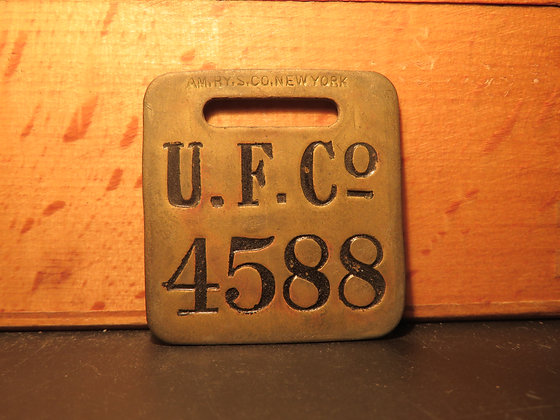 UFCO Brass Luggage Tag 4588