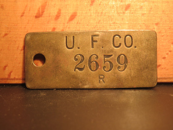 UFCO Brass Inventory Tag 2659