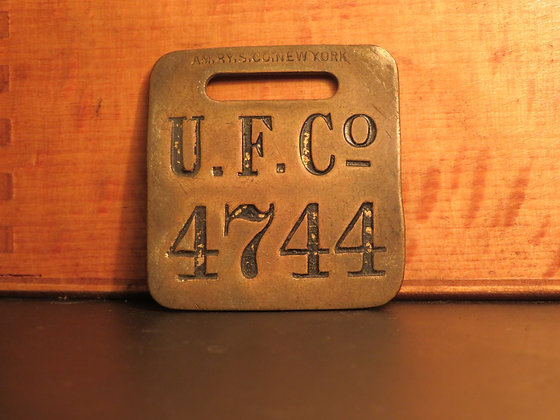 UFCO Brass Luggage Tag 4744