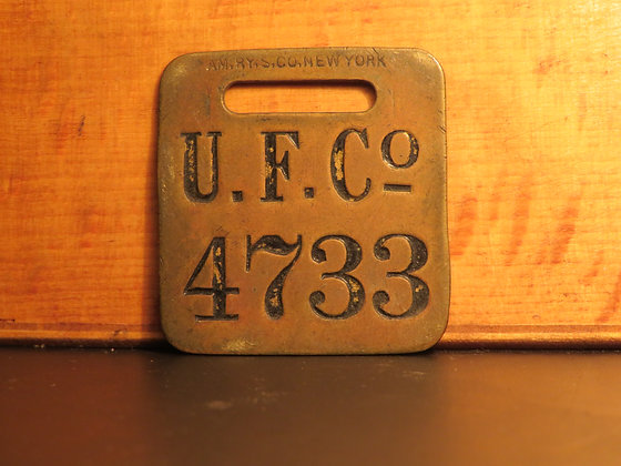 UFCO Brass Luggage Tag 4733