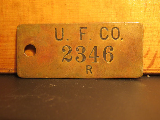UFCO Brass Inventory Tag  2346