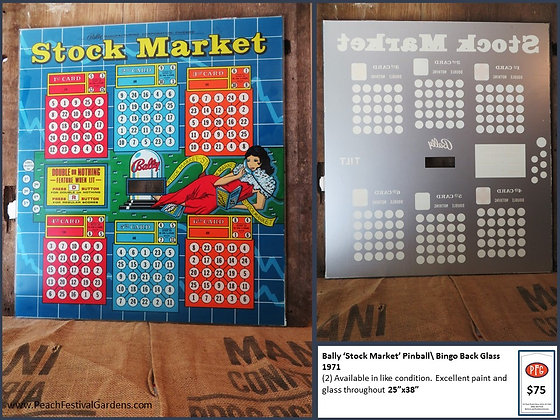 Bally Stock Market Bingo Backglass