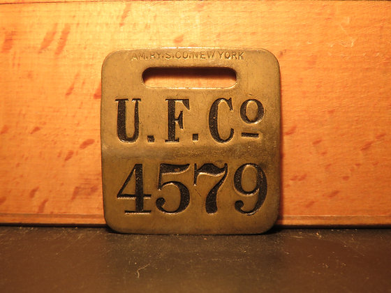 UFCO Brass Luggage Tag 4579