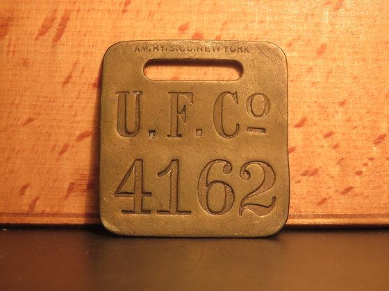 UFCO Brass Luggage Tag F4162