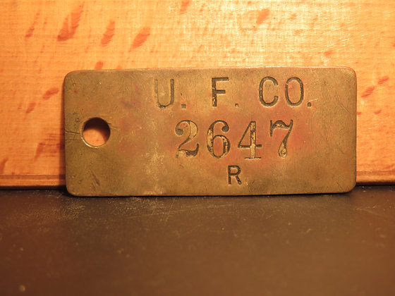 UFCO Brass Inventory Tag 2647