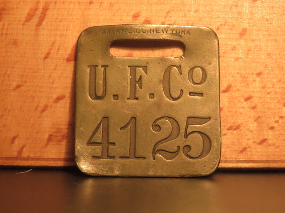 UFCO Brass Luggage Tag F4125