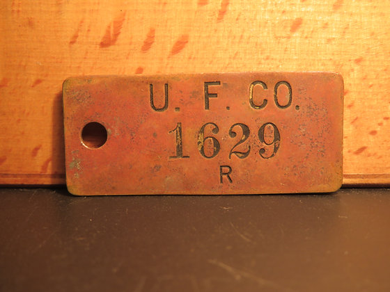 Brass Inventory Tag 1629