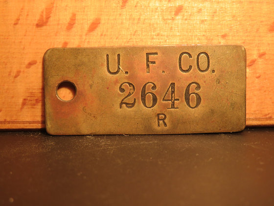 UFCO Brass Inventory Tag 2646