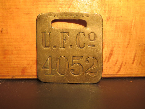 UFCO Brass Luggage Tag 4052