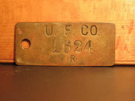 UFCO Brass Inventory Tag 1624