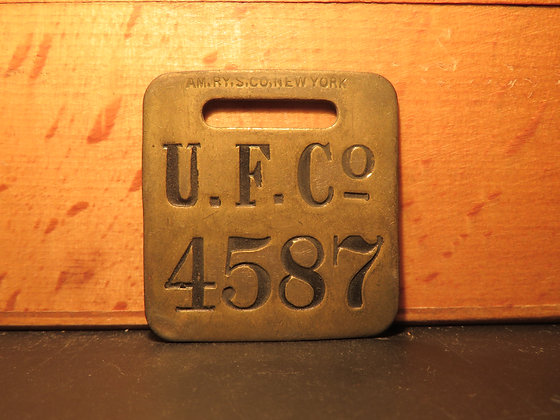 UFCO Brass Luggage Tag 4587