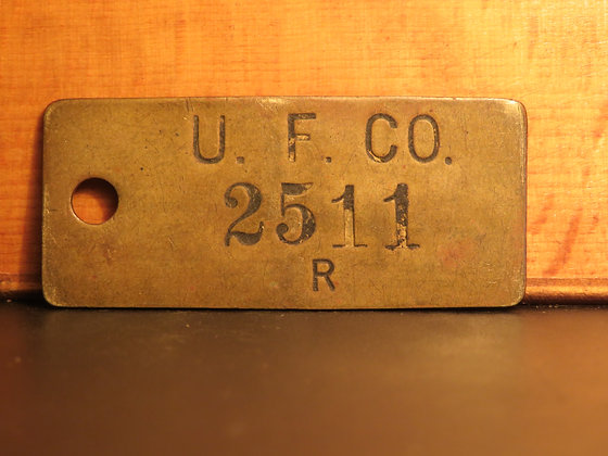 UFCO Brass Inventory Tag 2511