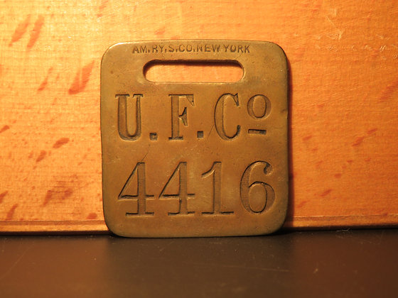 UFCO Brass Luggage Tag 4416