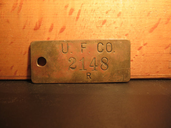 UFCO Brass Inventory Tag 2148