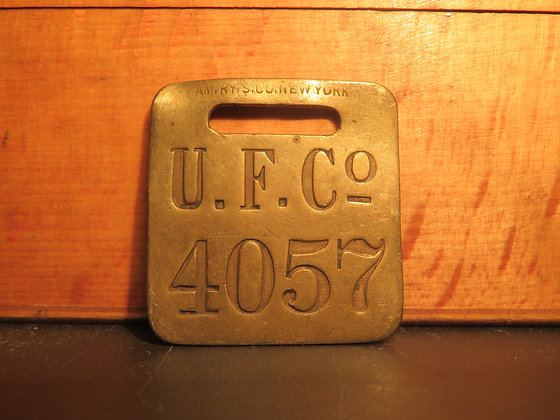 UFCO Brass Luggage Tag 4057