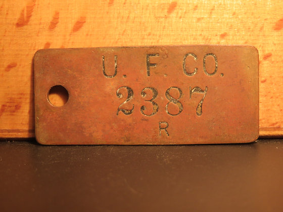 UFCO Brass Inventory Tag 2387