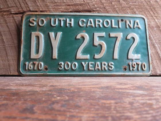 South Carolina TriCentennial License Tag DY 2572