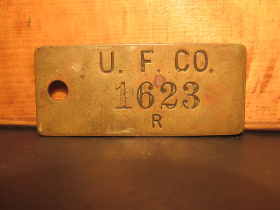UFCO Brass Inventory Tag 1623