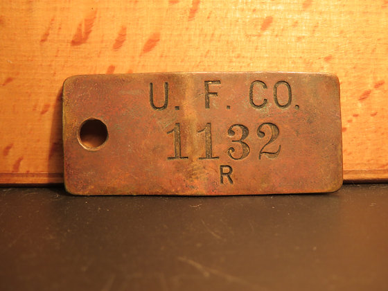 Brass Inventory Tag 1132