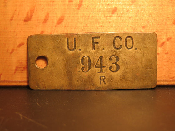 Brass Inventory Tag 943