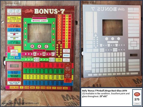 Bally Bonus 7 Bingo Backglass