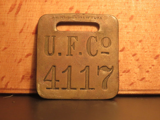 UFCO Brass Luggage Tag F4117