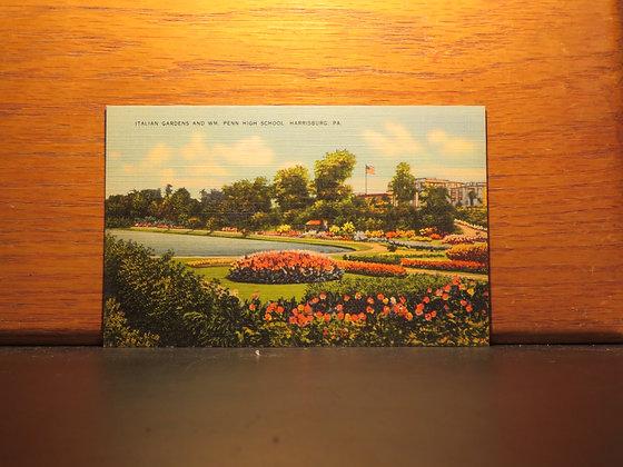 Italian Gardens And WM. Pen High School, Harrisburg, Pennsylvania