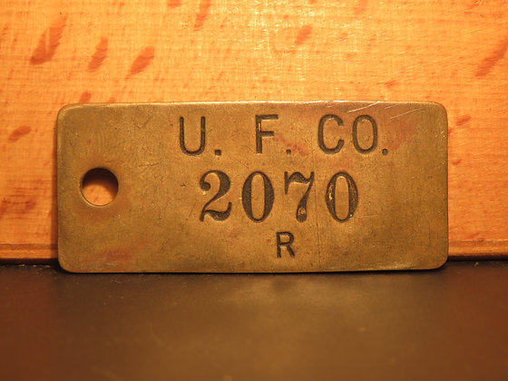 UFCO Brass Inventory Tag  2070