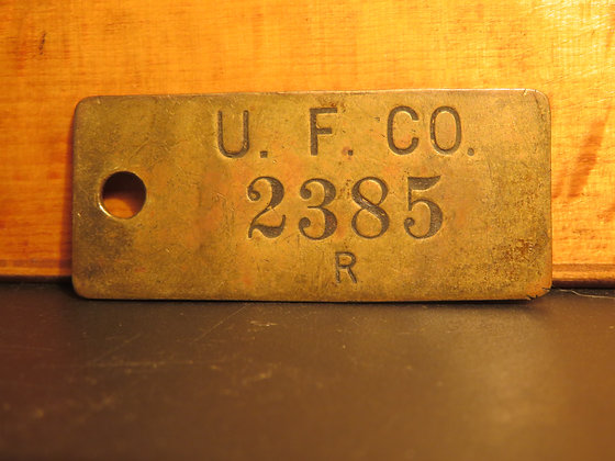 UFCO Brass Inventory Tag  2385