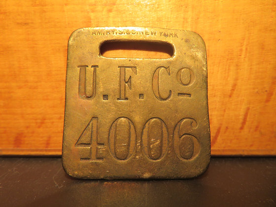 UFCO Brass Luggage Tag 4006