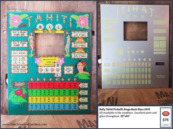 Bally Tahiti Bingo Backglass