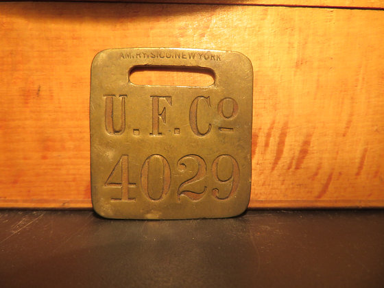 UFCO Brass Luggage Tag 4029