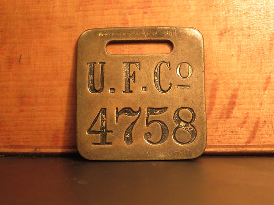 UFCO Brass Luggage Tag 4758